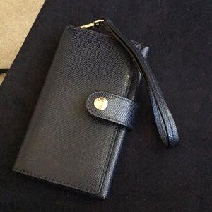Coach phone wristlet in navy